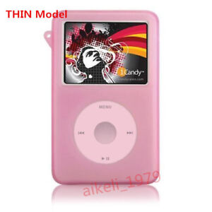 Pink New Silicone Skin Cover Case For Ipod Classic 7th Gen 160gb 6th 120gb Thin Ebay
