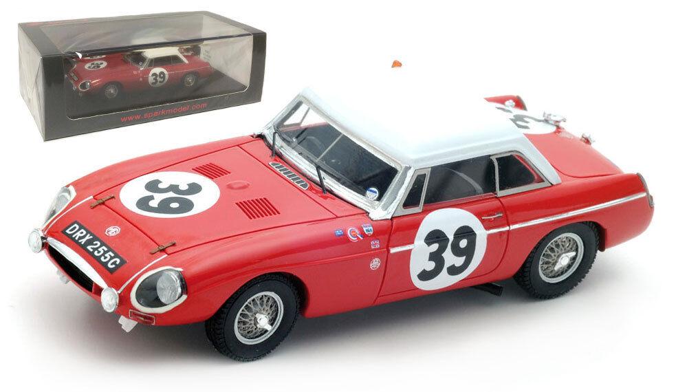 SPARK S5079 MG B Hardtop #39 11th LE MANS 1965-Hopkirk/SIEPI SCALA 1/43