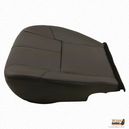 09-13 Avalanche LTZ Heated Driver Bottom Leather Replacement Seat Cover Black