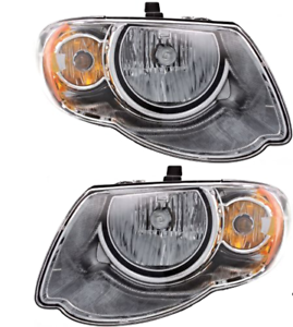 """Fits 05-07 Chry Town /& Country w// 119/"""" wheelbase L/&R Headlamps Set"""