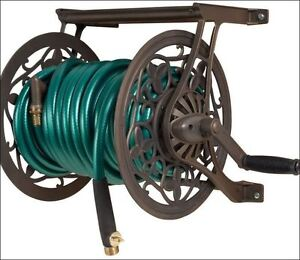 Image Is Loading Ames Wall Mount Water Garden Metal Hose Reel