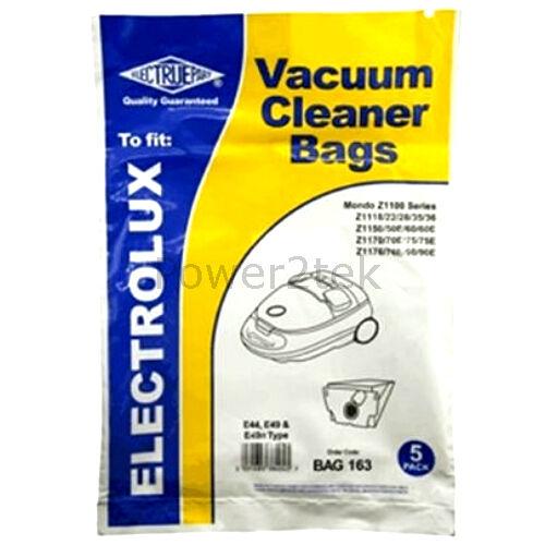 15 x E44 E49n Vacuum Bags for Electrolux Z1180PHA Z1190 Z1190E Hoover UK E49