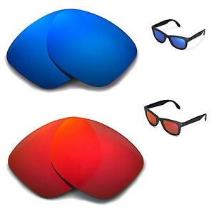 04ed8b00708 Details about New Walleva Polarized Fire Red + Ice Blue Lenses For Ray-Ban  RB4105 50mm