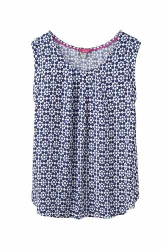 Joules Womens Alyse Sleeveless Woven Top Navy Geo