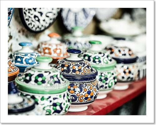 C Traditional Moroccan Earthenware At Art Print Home Decor Wall Art Poster