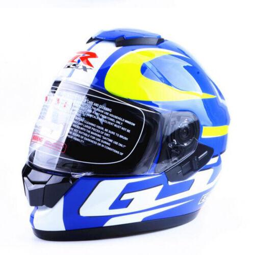 GSX R Motorcycle Helmet Double Lens Full Face DOT Racing Helmet 55-59CM Colorful