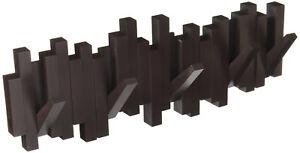 Dettagli su Attaccapanni Muro Parete 49 cm Appendiabiti Marrone Caffè 5  Ganci Design Moderno