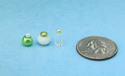 FABULOUS Set of 4 Dollhouse Miniature Vanity//Bathroom Bottles #PS53