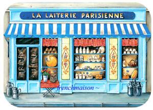 6-Paris-French-Art-LAITERIE-PARISIENNE-Dairy-Milk-Eggs-Cream-Plastic-Placemats