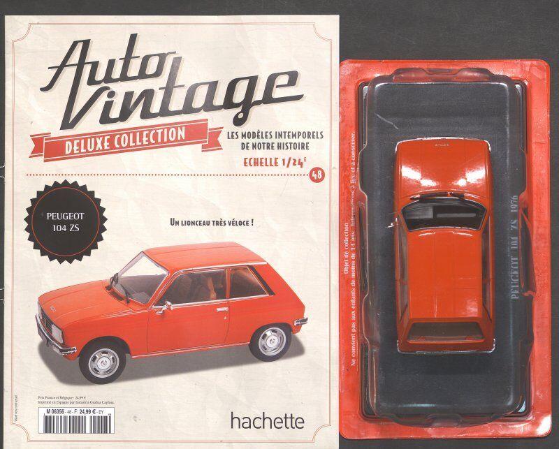 AUTO AUTO AUTO VINTAGE PEUGEOT 104 ZS N° 48 fd3955