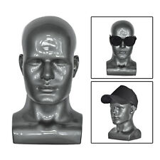 Pvc Male Mannequin Head Display Head Mannequin Display Wig Head Stand Gray