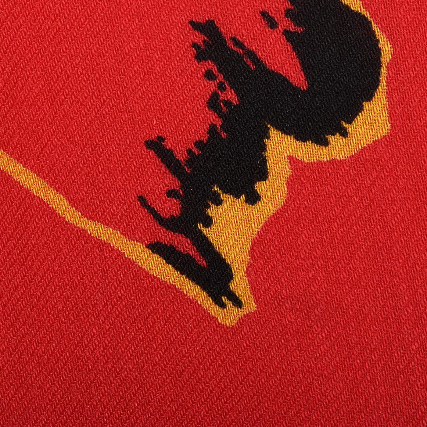 S 1980s Pauline Trigere Long Sleeve Red Dress Dro… - image 8