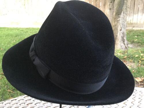 ... Makins Hat Beaver Fur Felt Fedora Wide Brim Trilby Black M l 58Cm 7 1 1e789458bb1d