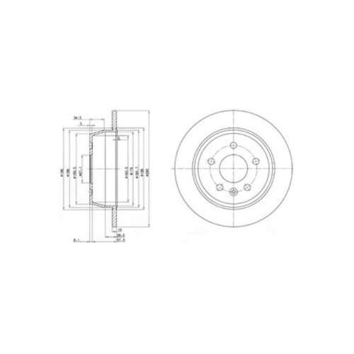 Genuine Delphi Arrière Solid Disques De Frein Lot Paire-BG3241