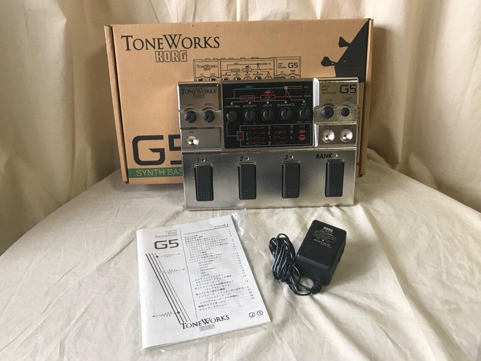 Korg G5 SYNTH BASS PROCESSOR Very Rare   w  box, power supply