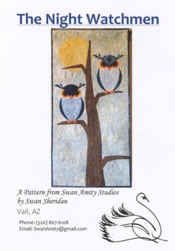 Night Watchman Owl Tree Applique Swan Amity Studios Quilt Pattern