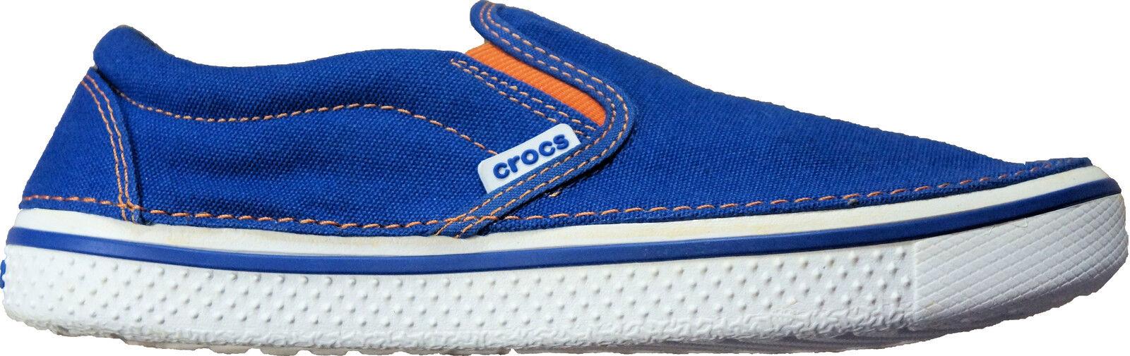 Crocs Men's Hover Slip On  Cerulean bluee   White   orange  Relaxed Fit