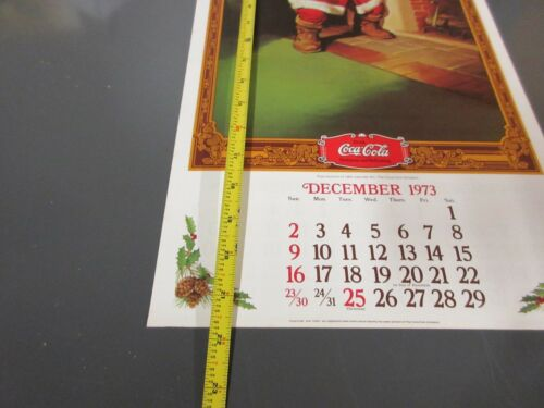 Vintage 1974 Rockwell Coca-Cola Santa Claus Dear Johnny Calendar Mint