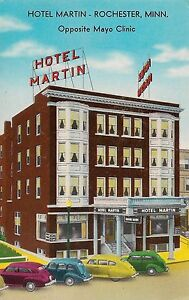 Details about Hotel Martin Opposite Mayo Clinic Rochester MN Postcard