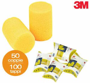 50 paia 100 tappi per orecchie 3m ear classic antirumore for Tappi orecchie per dormire