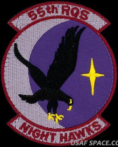 NIGHT HAWKS USAF 55th RESCUE SQ COMBAT RESCUE AIR FORCE ORIGINAL PATCH