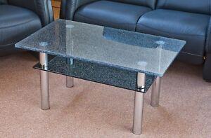 Moderner Crashglas Couchtisch Wohnzimmertisch Gecrashtes Glas Tisch