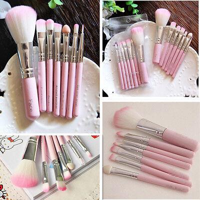 7pcs Pro  Powder Foundation Cosmetic Eyeshadow Makeup Brushes Set Kit