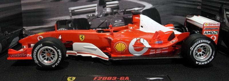 HOT WHEELS 1 18 AUTO FERRARI F1 F2003 GA MICHAEL SCHUMACHER JAPAN GP N2077  | Leicht zu reinigende Oberfläche