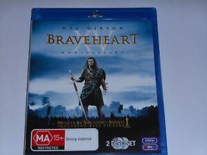 BRAVEHEART-DRAMA-BLU-RAY-LIKE-NEW-REGION-B-FREE-POST-2-DISCS