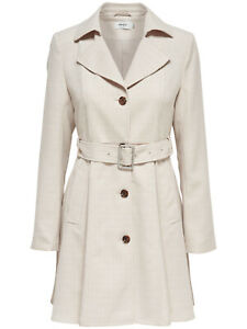 finest selection 00104 f4334 Only Damen Kurz-Trench-coat Melange Lang modisch-er Mantel ...