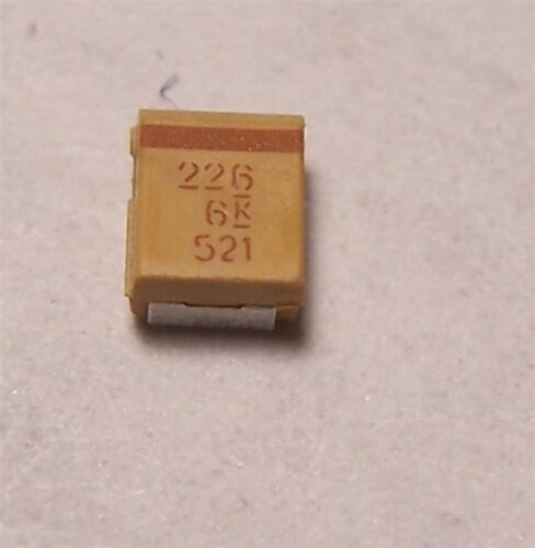 KEMET TANTALUM CAPACITORS 22uF 6V SMD 30 PCS