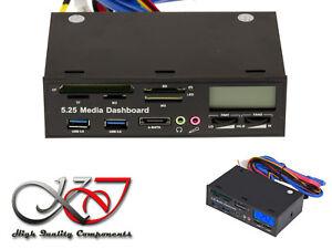 """Fascia Before USB Cf SD Esata Sound Temperature Fan For Location 5.25 """""""