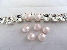 6 Rosaline Swarovski Crystal Cabochon Pearls 5817 8mm