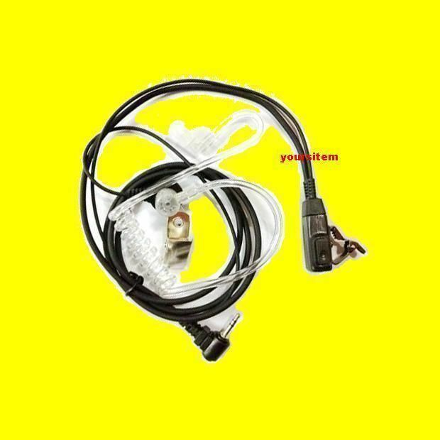 SECURITY POLICE CLEAR AIR TUBE HEADSET EARPIECE FOR MOTOROLA TALKABOUT RADIO M2