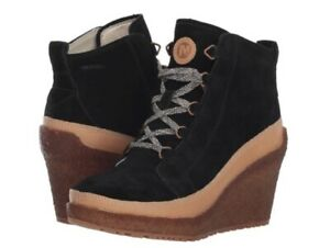 New-Merrell-Tremblant-Wedge-Lace-Winter-Boots-11-Eu-42-5-Black-Suede-Leather