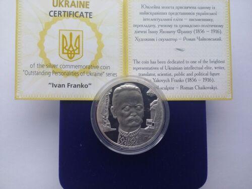 "Ukraine 5 griven coin /""Ivan Franko /""Silver .2006 Year"