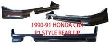 1990 1991 HONDA CRX P1 STYLE REAR LIP (ABS PLASTIC) UNPAINTED