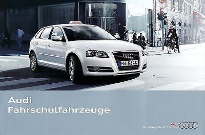 Aufstrebend Audi Fahrschulfahrzeuge Prospekt 2010 2/10 Autoprospekt Brochure Driving School