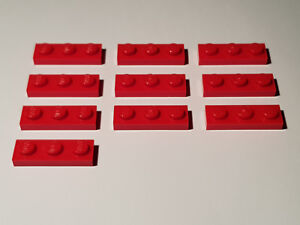 #AA53 LEGO® 10 x 3623 Platte 1 x 3 rot 362321 Red