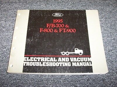 1995 Ford B700 F700 F800 FT900 Truck Electrical Wiring & Vacuum Diagram  Manual   eBay   Ford F800 Truck Wiring Diagrams      eBay