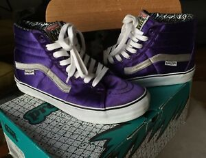 fdf07fbab5 Vans Sk8 Hi LX 9.5 Proper Satin Purple Authentic Black White Era Old ...