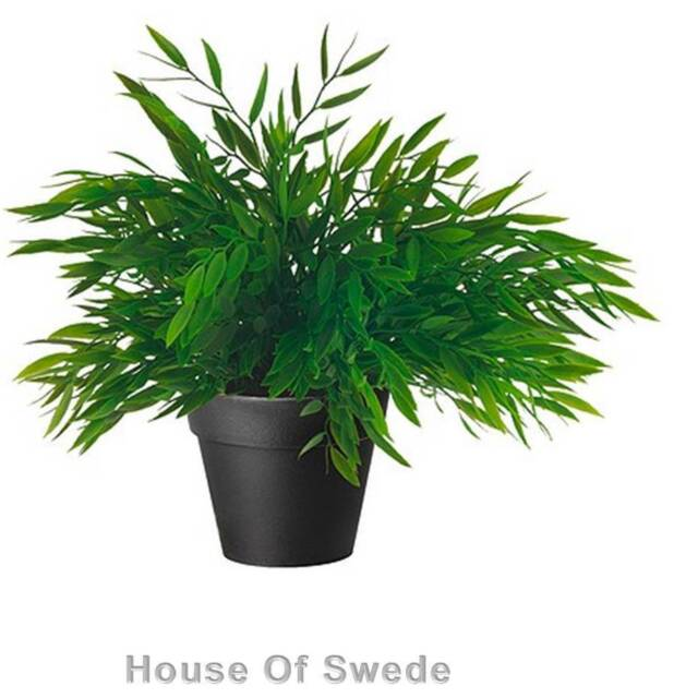 IKEA Artificial House Bamboo Potted Plant Fake Grass Indoor Outdoor Pot FEJKA