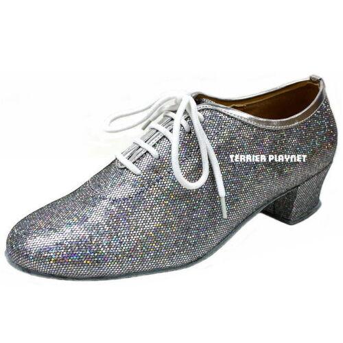 TPS Silver Glitter Latin Ballroom Salsa Custom-made Dance Shoes D621