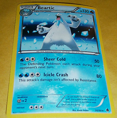 POKEMON B /& W EMERGING POWERS BEARTIC 30//98 RARE HOLO