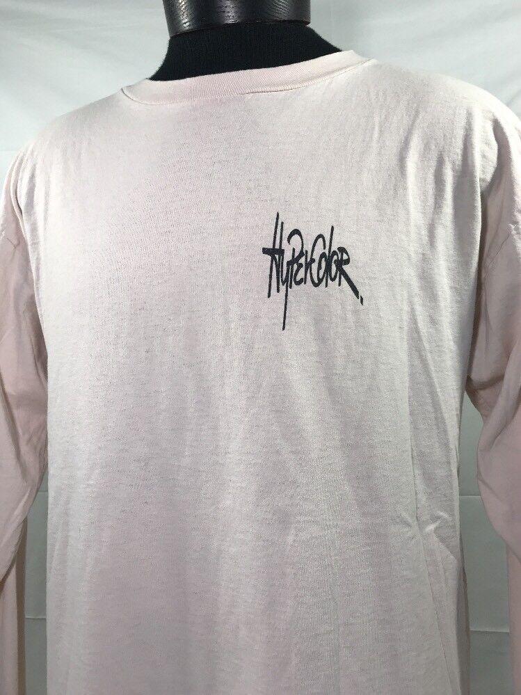 VTG HyperFarbe T Shirt Thermochromic Farbe Change Generra Tee 90's Made USA