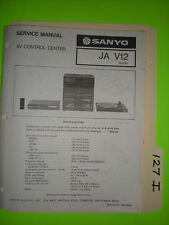 Sanyo ja v12 service manual original repair book stereo av control center