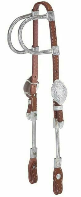 Showman Brown Steel Snaffle Bit w// Silver Barbed Wire Design! NEW HORSE TACK!!