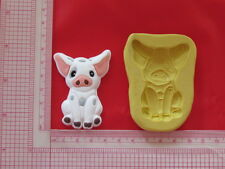 Hawaiian Princess Pig Silicone Mold A853 Chocolate Resin Clay Candy Moana