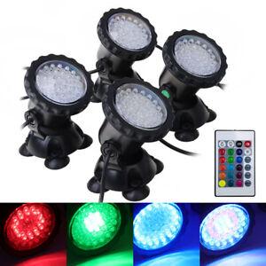 36LED-LED-RGB-Strahler-Aussen-Flut-Aquarium-Licht-IP68-Unterwasserscheinwerfer-DE
