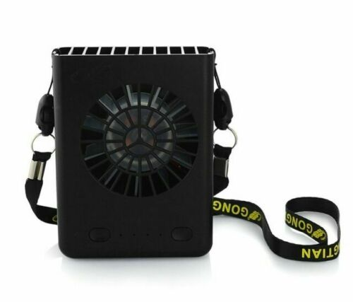 Handing Necklace Fan USB Mini Portable Fans 5 Inch with 3-Level Speed Neck Fan Multi-Functional for Travel//Sports//Office and Outdoor